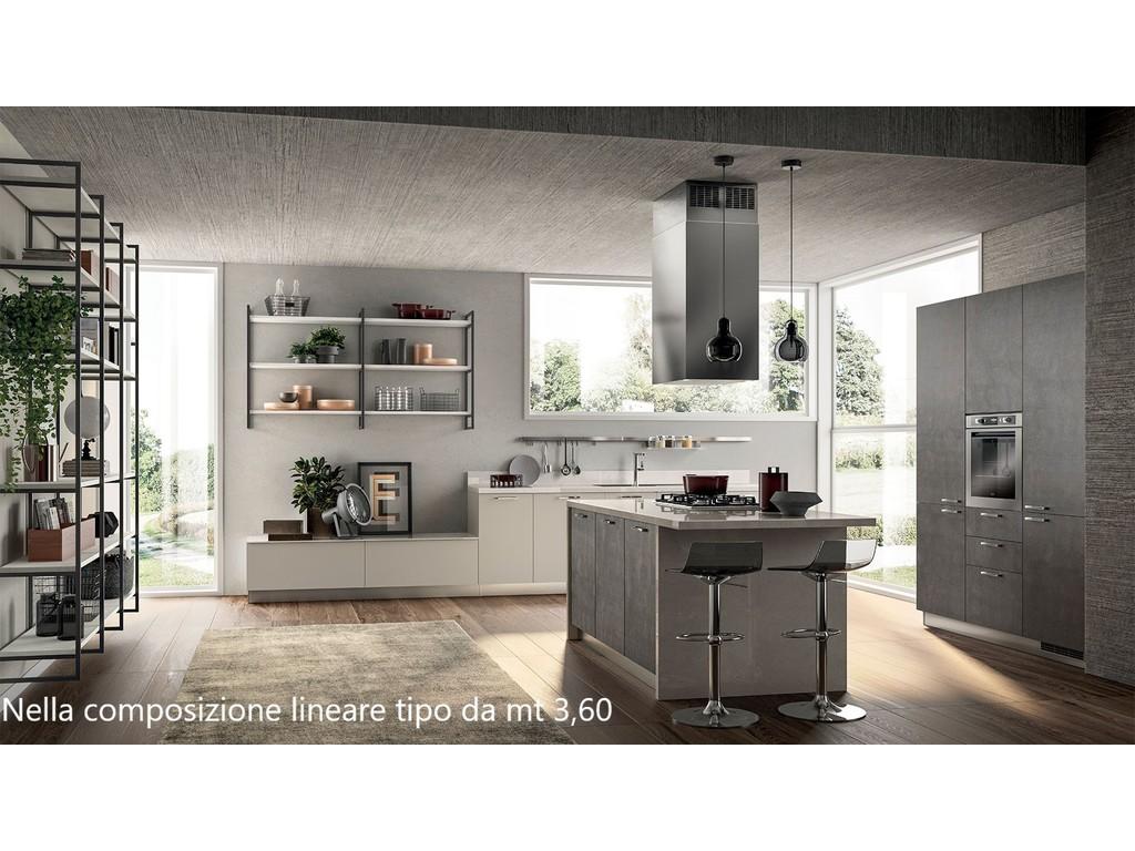 Cucina Scavolini mod. Sax in decorativo mt lineari 3,60 completa di elettrodomestici